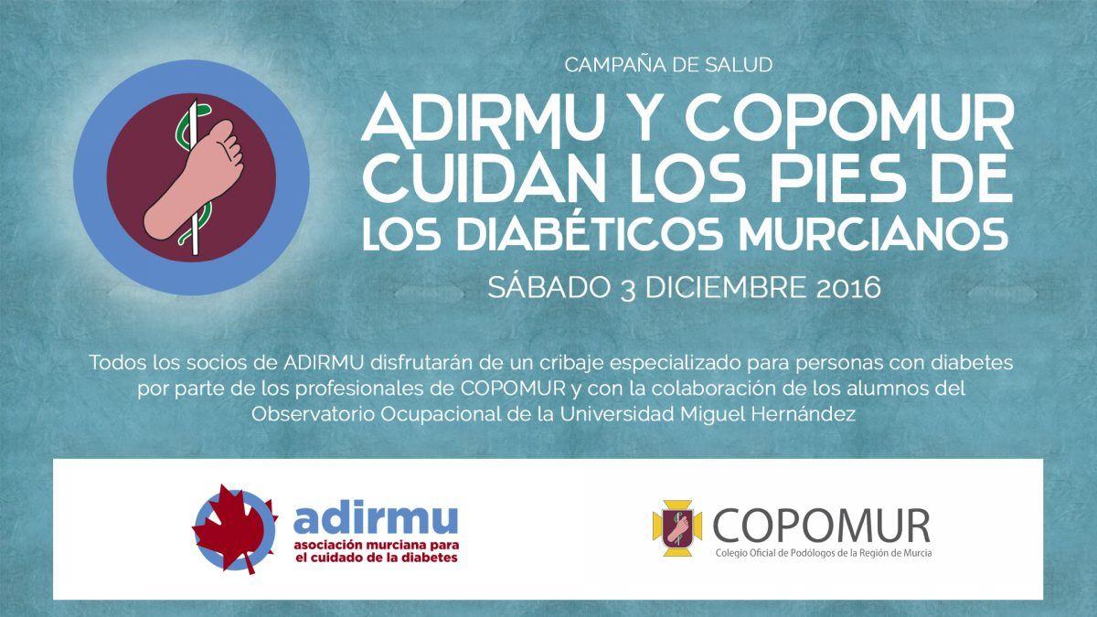 ADIRMU y COPOMUR cuidan los pies de los diabéticos murcianos