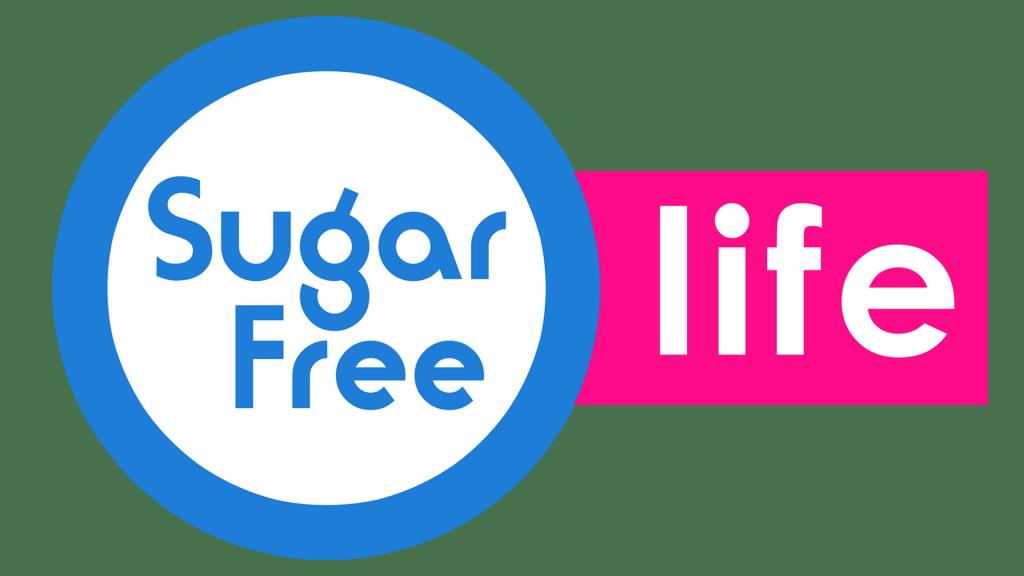 Sugar Free Life Logo Circulo Blanco Peq
